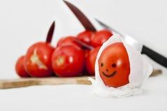 Lycklig tomat Royaltyfri Foto