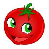 lycklig tomat stock illustrationer