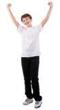 Lycklig tonårs- pojke Fotografering för Bildbyråer
