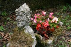 Lycklig trädgårds- gnom Arkivbilder