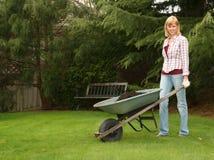 lycklig trädgårdsmästare Royaltyfria Bilder