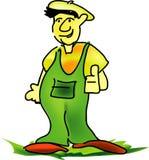 lycklig trädgårdsmästare Arkivbild