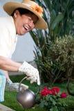 lycklig trädgårdsmästare Arkivbilder