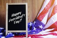Lycklig typografi och USA för dag för president` s sjunker plats Arkivbilder