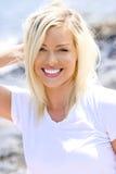 Lycklig ung kvinna Fotografering för Bildbyråer