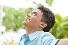 Lycklig ung man Fotografering för Bildbyråer