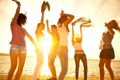 Festa på strand royaltyfri fotografi