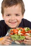 lycklig ungesallad för frukt Arkivbilder
