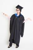 Lycklig universitetsstudent för full längd Arkivbilder