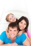 lycklig utgångspunkt för familj Royaltyfria Bilder