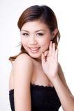 lycklig uttrycksfull flicka Royaltyfria Bilder