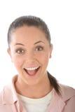 lycklig vänlig flicka Arkivfoton
