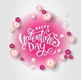 Lycklig valentin dagdesign stock illustrationer