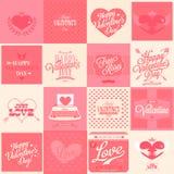 16 lycklig valentin daghand Arkivfoton