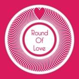 Lycklig valentin för vektorillustrationbakgrund med rundan av förälskelsedesignen stock illustrationer