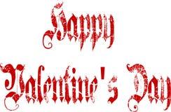 Lycklig valentin gotisk skrift för dag Arkivbild