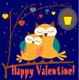 Lycklig valentin - kort eller illustration Arkivbilder