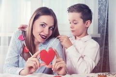 Lycklig valentin-, moder- eller kvinnadag Royaltyfri Bild