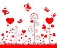 Lycklig valentindag för illustration med prydnaden för dekorativ festival av förälskelse stock illustrationer