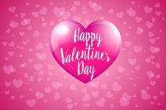 Lycklig valentindag med den rosa hjorten - Valentine Card stock illustrationer