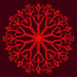 Lycklig valentindag vektorkort vektor illustrationer
