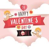 Lycklig Valentine Day designbakgrund Royaltyfri Foto