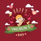 Lycklig Valentine Day designbakgrund Royaltyfri Fotografi