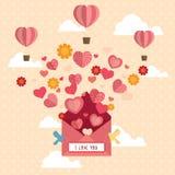 Lycklig Valentine Day designbakgrund Arkivbild