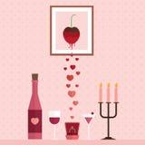 Lycklig Valentine Day designbakgrund Royaltyfria Bilder