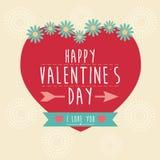 Lycklig Valentine Day designbakgrund Arkivfoton