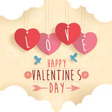 Lycklig Valentine Day designbakgrund Fotografering för Bildbyråer