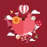 Lycklig Valentine Day symbolsdesign Arkivbild