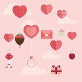 Lycklig Valentine Day symbolsdesign Royaltyfri Fotografi