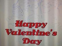 Lycklig valentine& x27; s-dagcitationstecken med fjärilsvitbakgrund Arkivbild