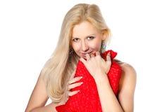 lycklig valentinkvinna för dag Royaltyfria Foton