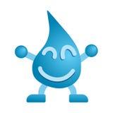 Lycklig vattenmaskot Arkivbild