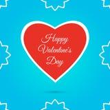 Lycklig vektor för baner för text för dag för valentin` s Arkivfoton