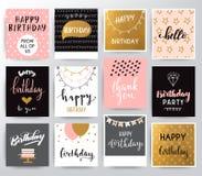 lycklig vektor för födelsedagkort Royaltyfri Illustrationer