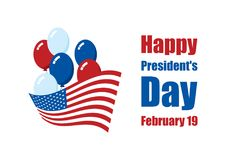 Lycklig vektor för president`-dag Royaltyfria Foton