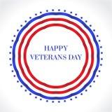 Lycklig veterandag Amerikanska flaggan lyckligt kort för hälsning för veterandag U S en flagga också vektor för coreldrawillustra Royaltyfri Bild