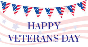 Lycklig veterandag Amerikanska flaggan lyckligt kort för hälsning för veterandag U S en flagga också vektor för coreldrawillustra royaltyfri illustrationer