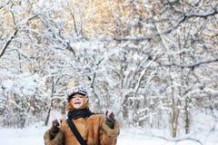 lycklig vinter Arkivfoton