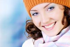 lycklig vinter för framsida Arkivbild