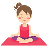 Lycklig yogaflicka Royaltyfri Fotografi