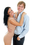 Lyckliga älska par. Arkivfoton
