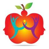 Lyckliga äpplepar vektor illustrationer