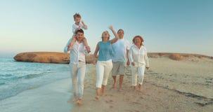Lyckliga ögonblick av sommarfamiljsemestern lager videofilmer