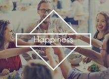 Lyckliga ögonblick känner sig bra att tycka om roligt lyckafritidbegrepp Fotografering för Bildbyråer