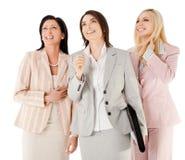 lyckliga affärskvinnor Royaltyfria Foton