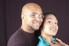 Lyckliga afrikansk amerikanpar Royaltyfria Foton